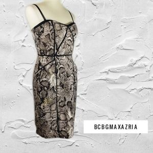 BCBG Max Azaria Adjustable Strap Dress Sz 8